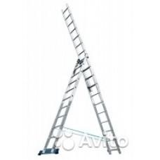Лестница, 3 х 12 ступеней, алюминиевая Россия